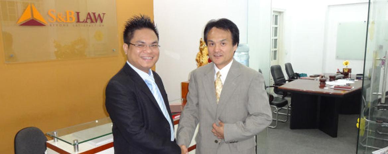 Luật sư Nguyễn Thanh Hà gặp đối tác Nhật Bản
