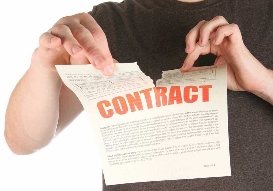 Phạt hủy ngang hợp đồng theo quy định của pháp luật thương mại