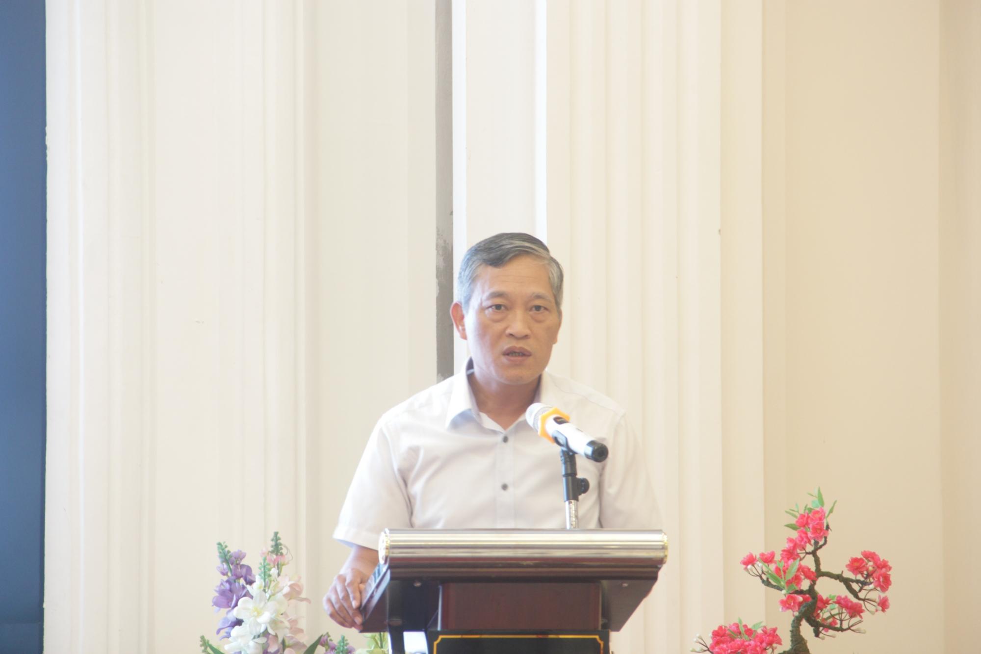 Thứ trưởng Bộ Khoa học & Công nghệ Trần Văn Tùng phát biểu tại hội nghị