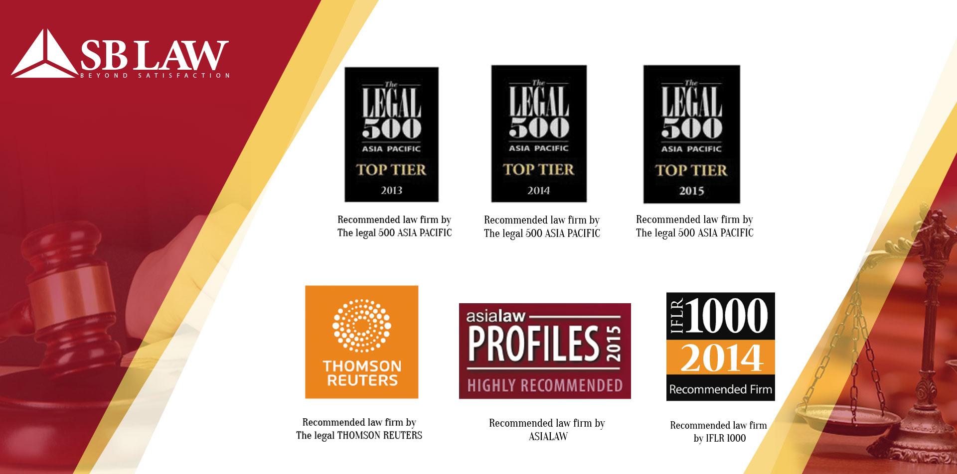 SBLAW nhận giải thưởng về tư vấn luật doanh nghiệp từ IFLR1000