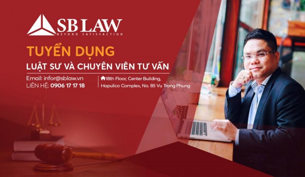SBLAW- Tuyển dụng luật sư và chuyên viên tư vấn