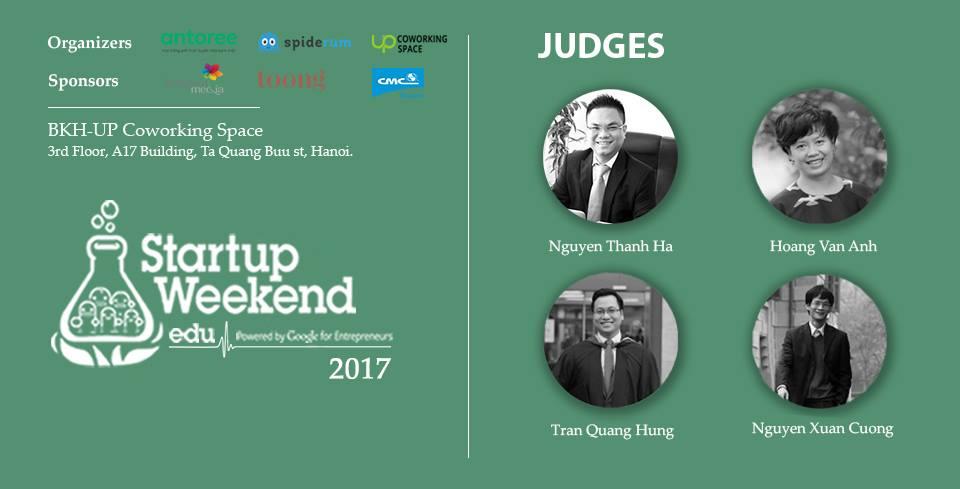 Luật sư SBLAW làm giám khảo cuộc thi Startup Weekend Education Hanoi 2017
