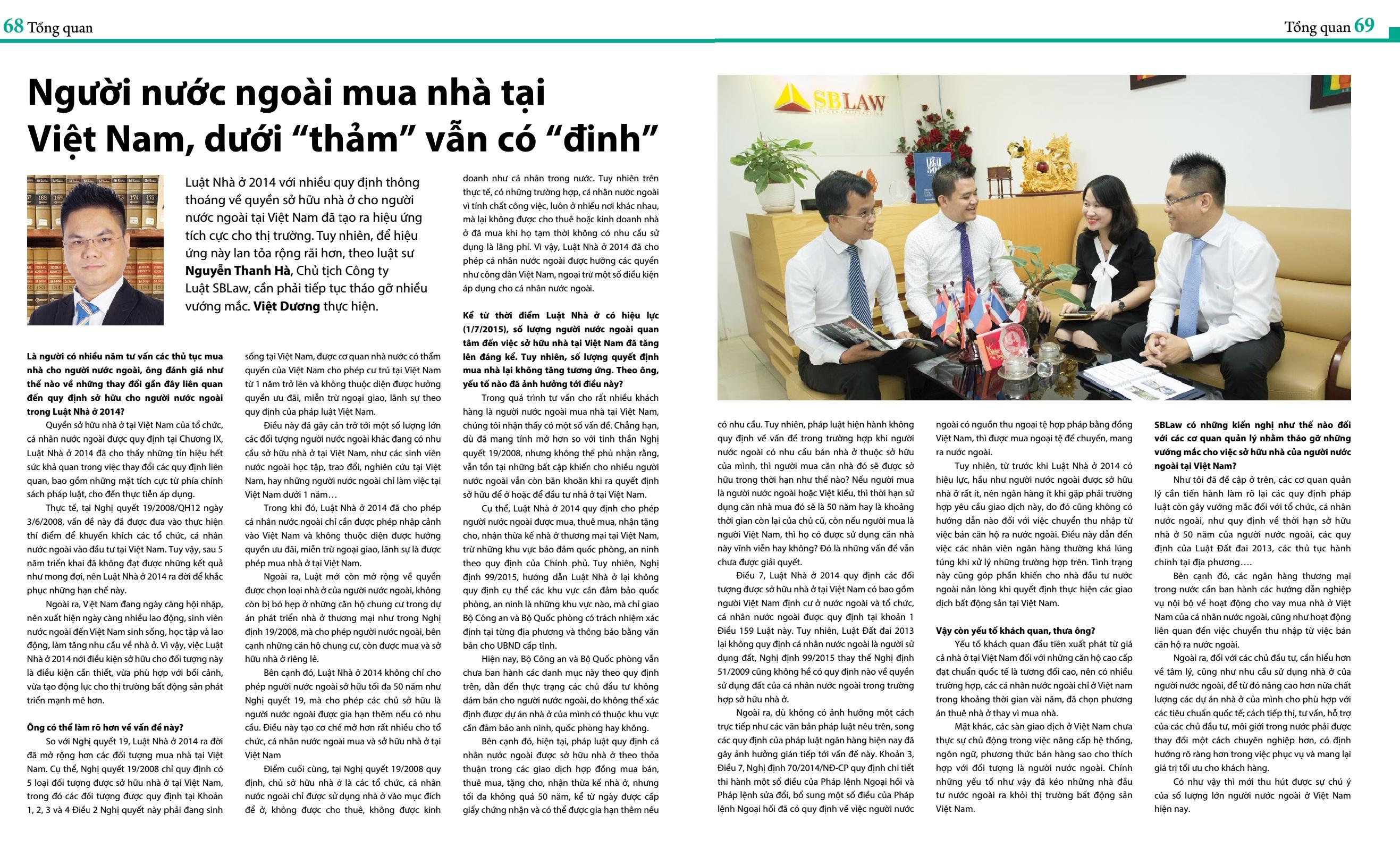"""Người nước ngoài mua nhà tại Việt Nam, dưới """"thảm"""" vẫn có """"đinh""""."""