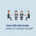 Thủ tục thay đổi đăng ký doanh nghiệp-sblaw