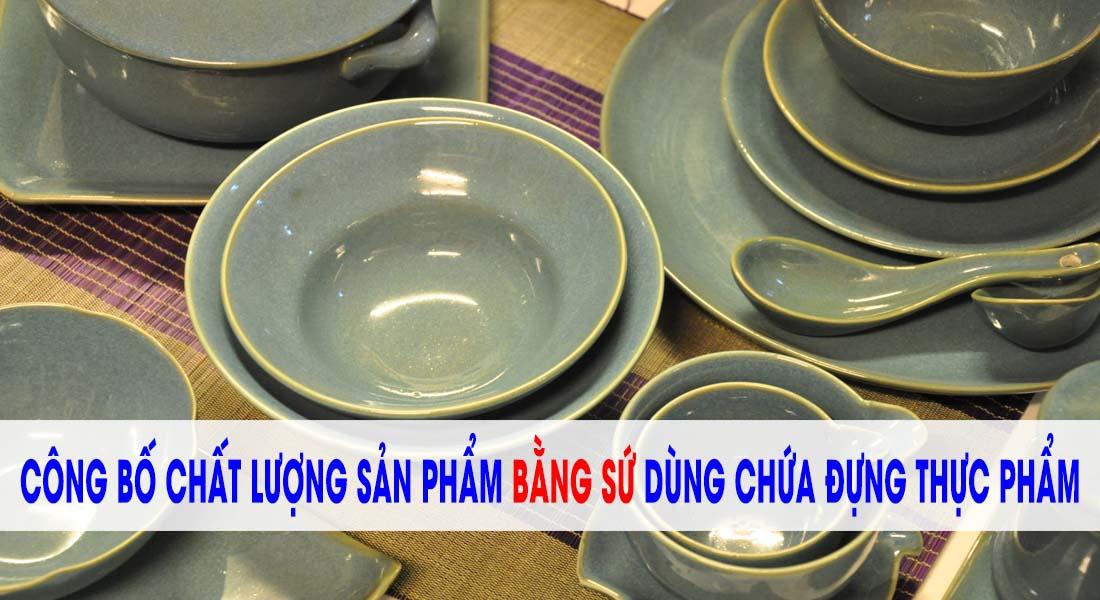 Công bố chất lượng sản phẩm đĩa sứ nhập khẩu