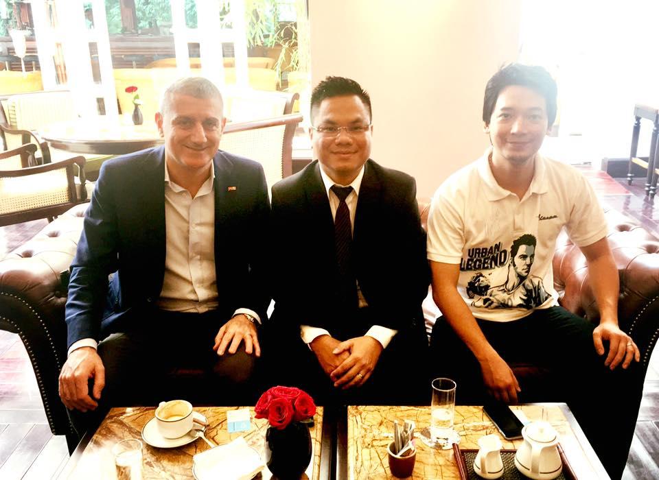 Luật sư SBLAW làm việc cùng chủ tịch phòng thương mại Ý tại Việt Nam.