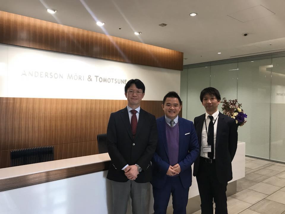 Luật sư SBLAW thăm và làm việc tại hãng luật Nhật Bản