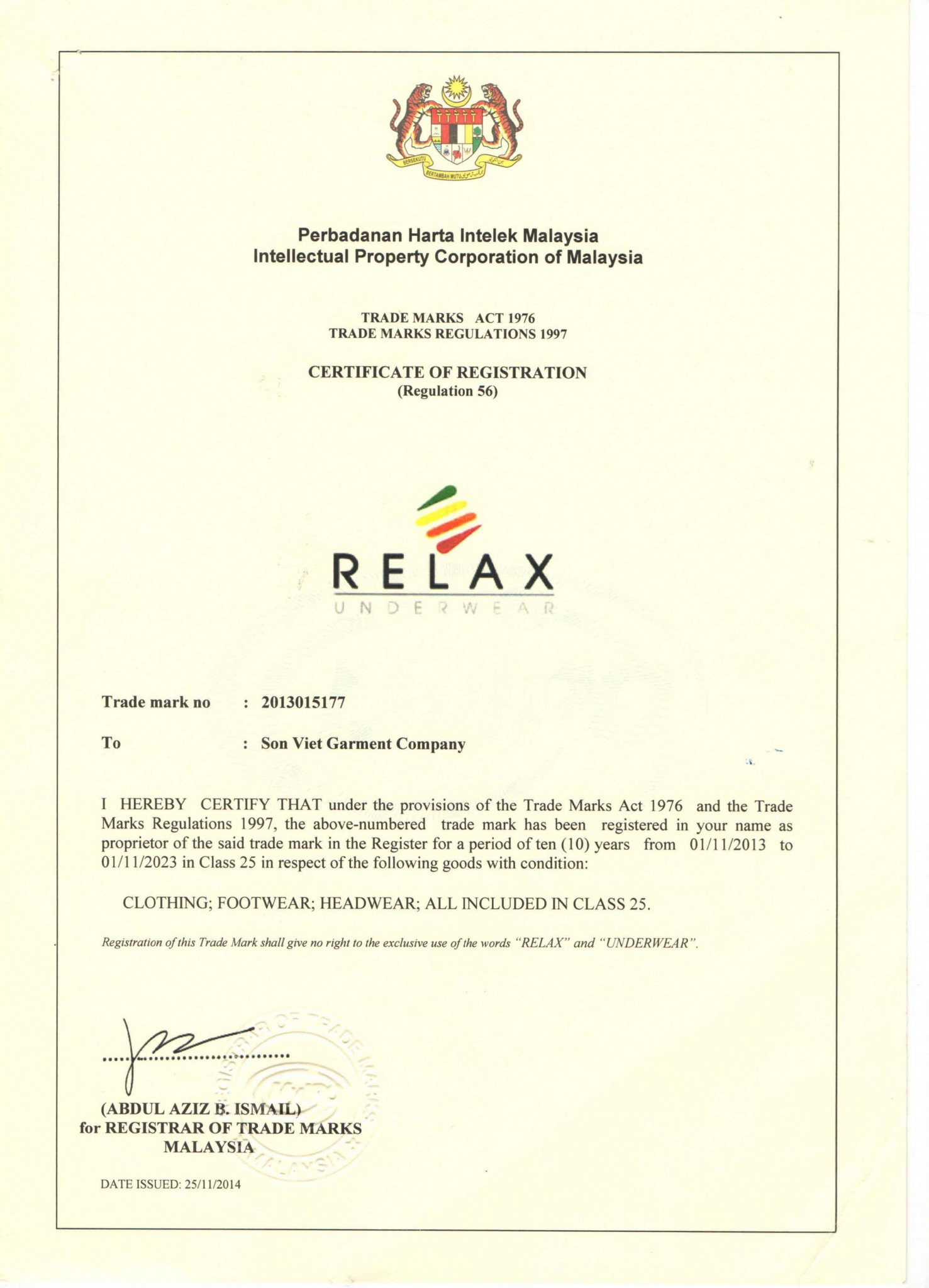 Luật sư SB LAW đăng ký thành công nhãn hiệu cho khách hàng ở Malaysia