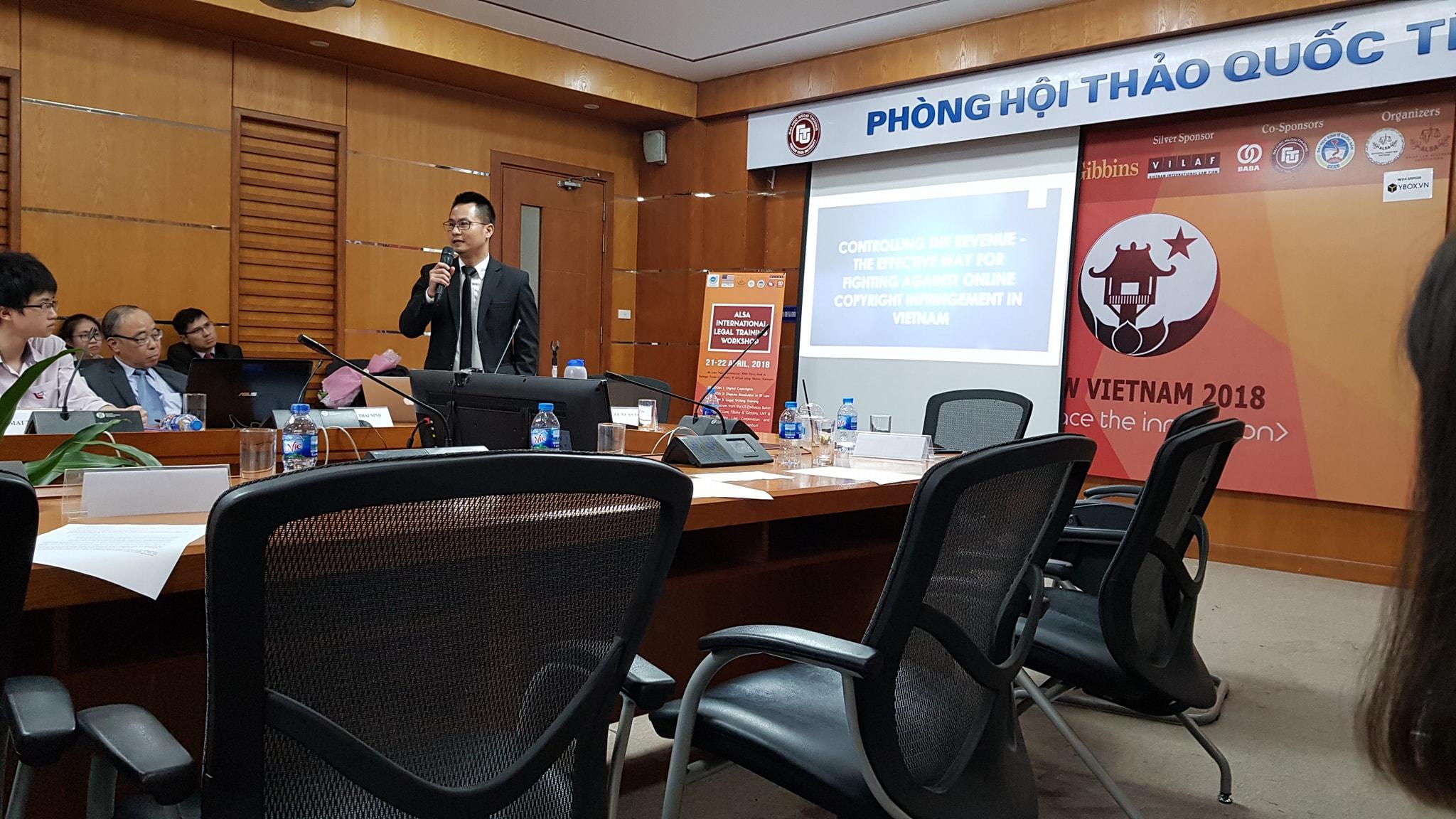 Luật sư Nguyễn Tiến Hoà tham gia hội thảo quốc tế về bản quyền