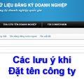 Đặt tên riêng của doanh nghiệp bằng tiếng nước ngoài - internet