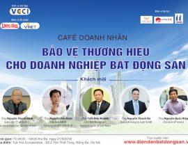 """21/8: Café doanh nhân """"Bảo vệ thương hiệu cho Doanh nghiệp bất động sản"""""""