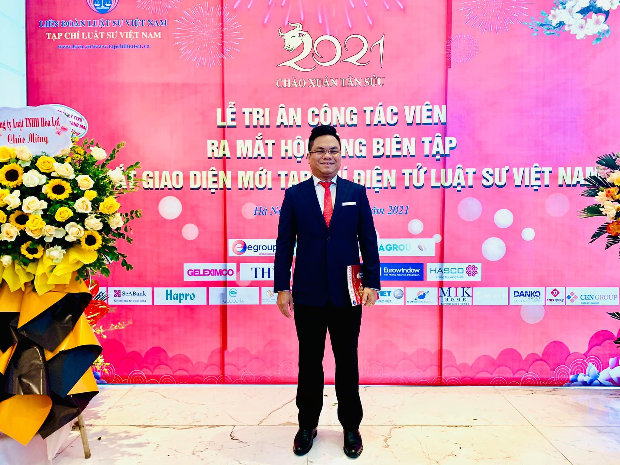 Luật sư Nguyễn Thanh Hà tham dự lễ ra mắt giao diện mới tạp chí luật sư Việt Nam